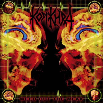 WEED OUT THE WEAK (2018) Re-issue (Re-issued by Hammerheart Records, 2018) Recorded in Take One, Denmark, The Laughing Tiger, San Rafael, CA and Sound Temple Studio Oakland, CA. Produced by Konkhra and James Murphy March 1997. Remixed by Vincent Wojno and Michael Rosen. Remastered by Tue Madsen 2018. • Vinyl: black, clear & red/black splattered • Digi-CD including 'The Freakshow EP' Line up: Anders Lundemark – Guitar + vocals. Chris Kontos – Drums. Thomas Christensen – Bass. James Murphy – Guitar. Track list : 1. Heavensent 2. Time Will Heal 3. Crown Of The Empire 4. Kinshasa Highway 5. Through My Veins 6. The Reckoning 7. Misery 8. Melting 9. Inhuman 10. Pain And Sorrow 11. My Belief