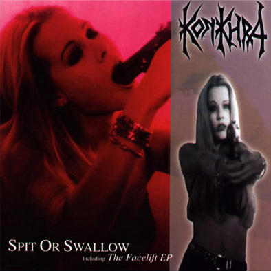 "SPIT OR SWALLOW (1994) Recorded in Sunlight Studio, Stockholm Sweden October 1994 Produced by Fred Estby and Konkhra. Executive producer Tomas Skogsberg. Available in two versions. Second version of the album included the songs from ""The Facelift EP"".    Line up: Anders Lundemark – Guitar + vocals. Johnny Nielsen – Drums. Lars Schmidt – Bass. Kim Mathiesen – Guitar.    Track list : 1. Centuries 2. Spit Or Swallow 3. Life Eraser 4. Hail The Body, Burden The Spirit 5. Hooked 6. Facelift 7. Scorn Of The Earth 8. Subconscience 9. Necrosphere 10. Hold Another Level"